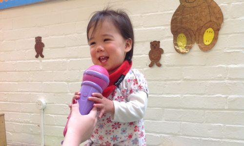 Child on microphone