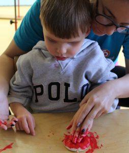 Boy making poppies
