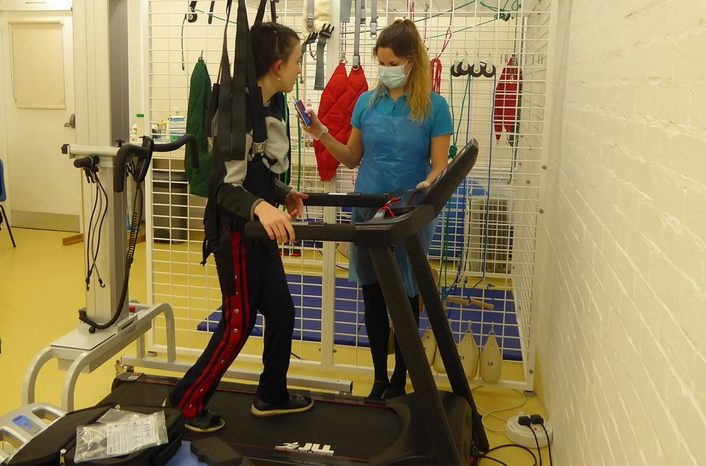 Girl and Therapist in Physiotherapy
