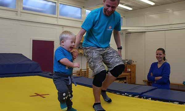 Child in Rebound Therapy