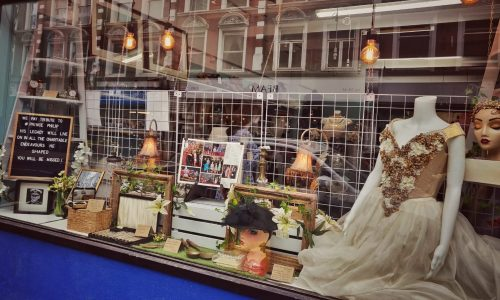 Charity shop window - Crouch End N8